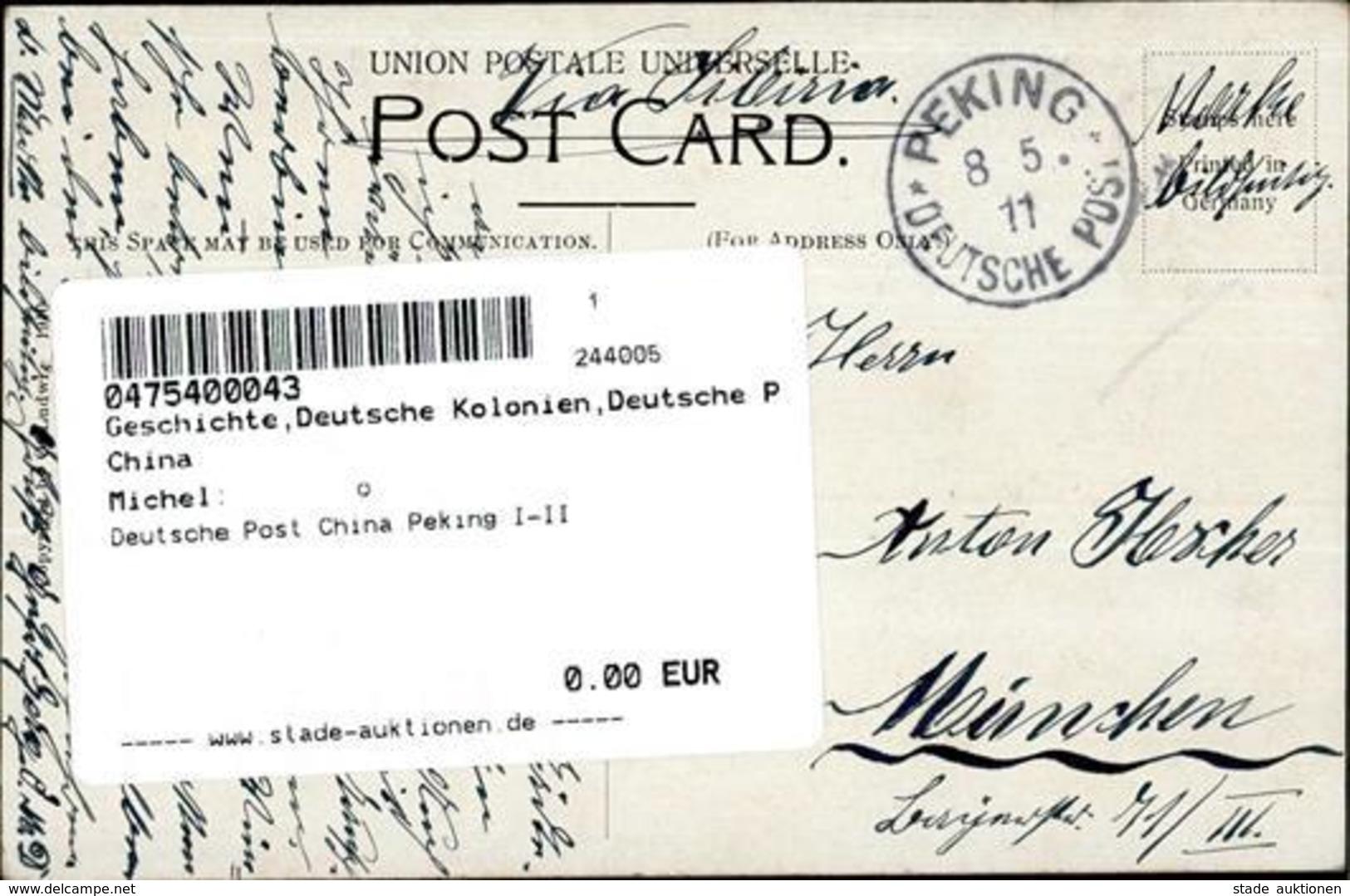 Deutsche Post China Peking I-II - Ethnics