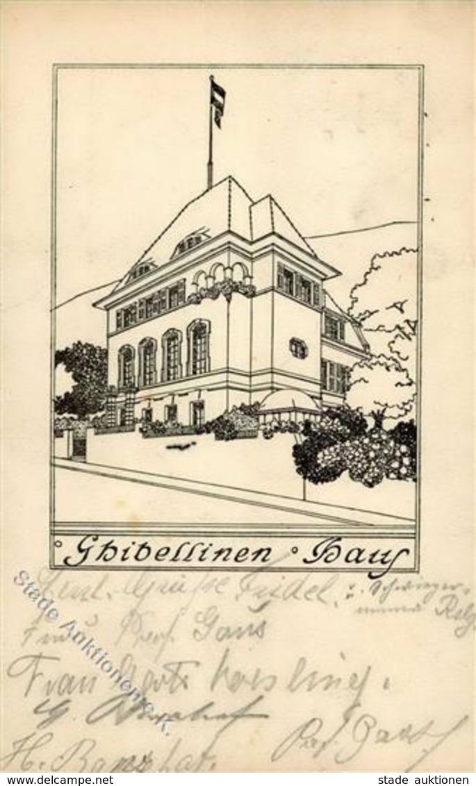 Studentika STUTTGART - Ghibellinen-Haus - Künstlerkarte I - Schulen