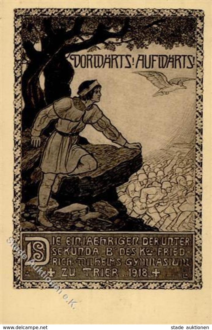 Studentika TRIER - Künstlerkarte 1918 I - Schulen