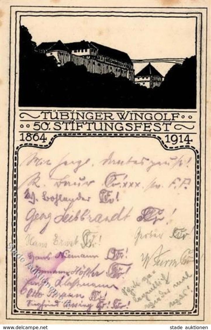 Studentika TÜBINGEN - 50. Stiftungsfest WINGOLF 1914 I-II (etwas Fleckig) - Schulen