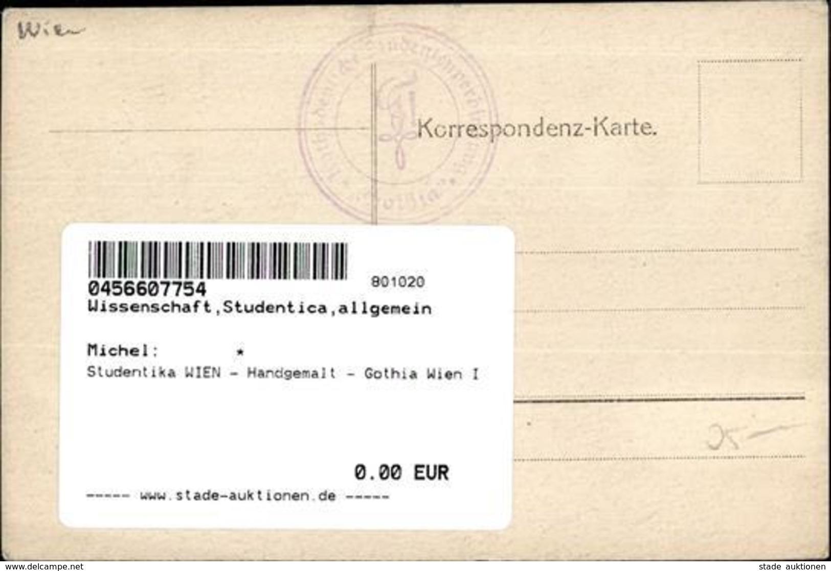 Studentika WIEN - Handgemalt - Gothia Wien I Peint à La Main - Schulen