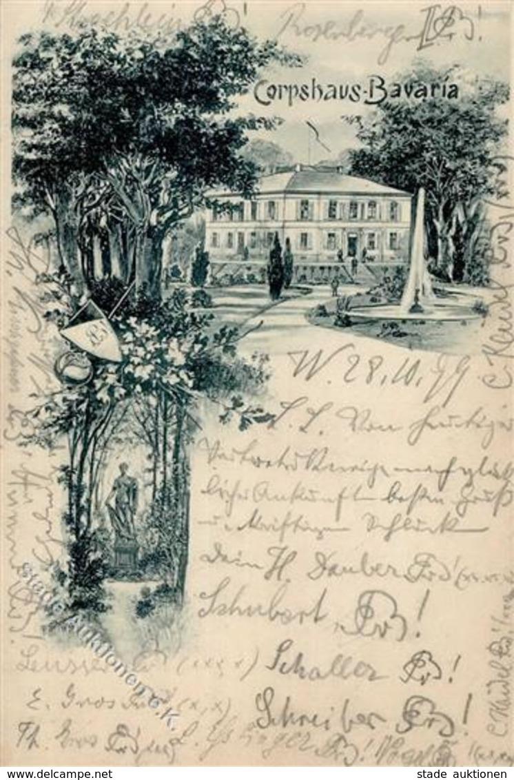 Studentika Würzburg (8700) Corpshaus Bavaria 1899 I-II - Schulen