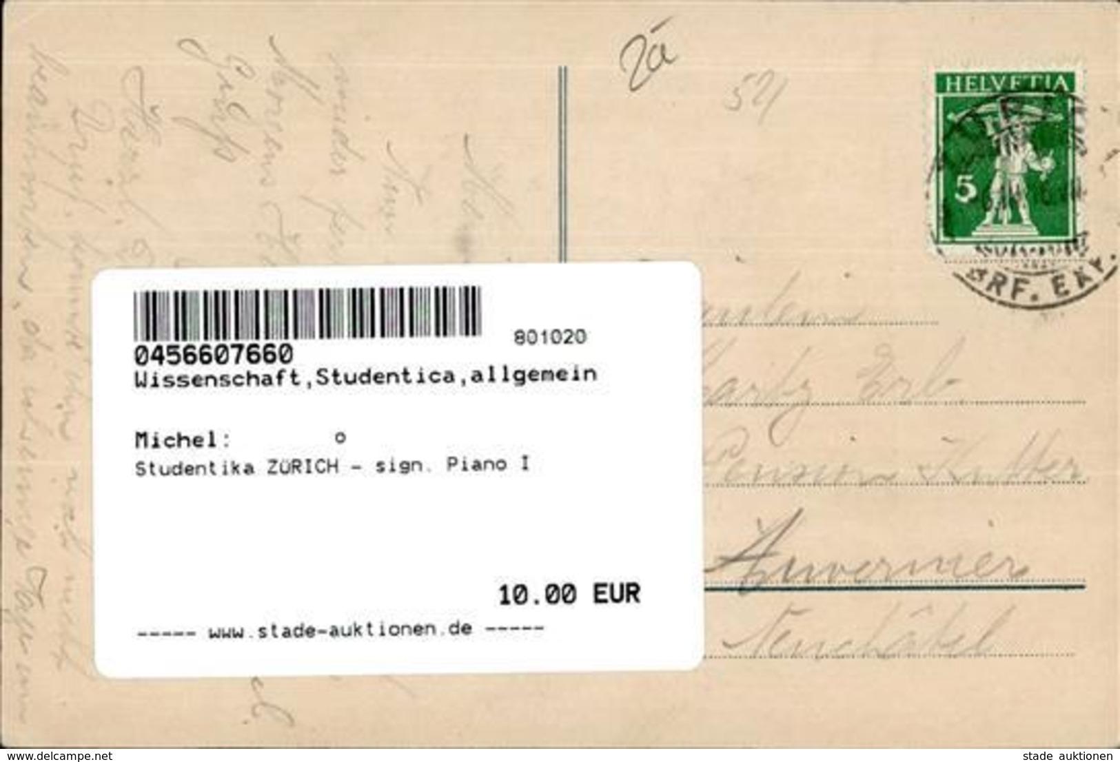 Studentika ZÜRICH - Sign. Piano I - Schulen