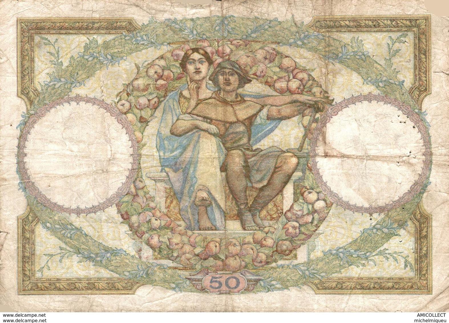 7387-2019    BILLET  DE  50 F LUC OLIVIER MERSON DU 7-1-1932 - 1871-1952 Antichi Franchi Circolanti Nel XX Secolo