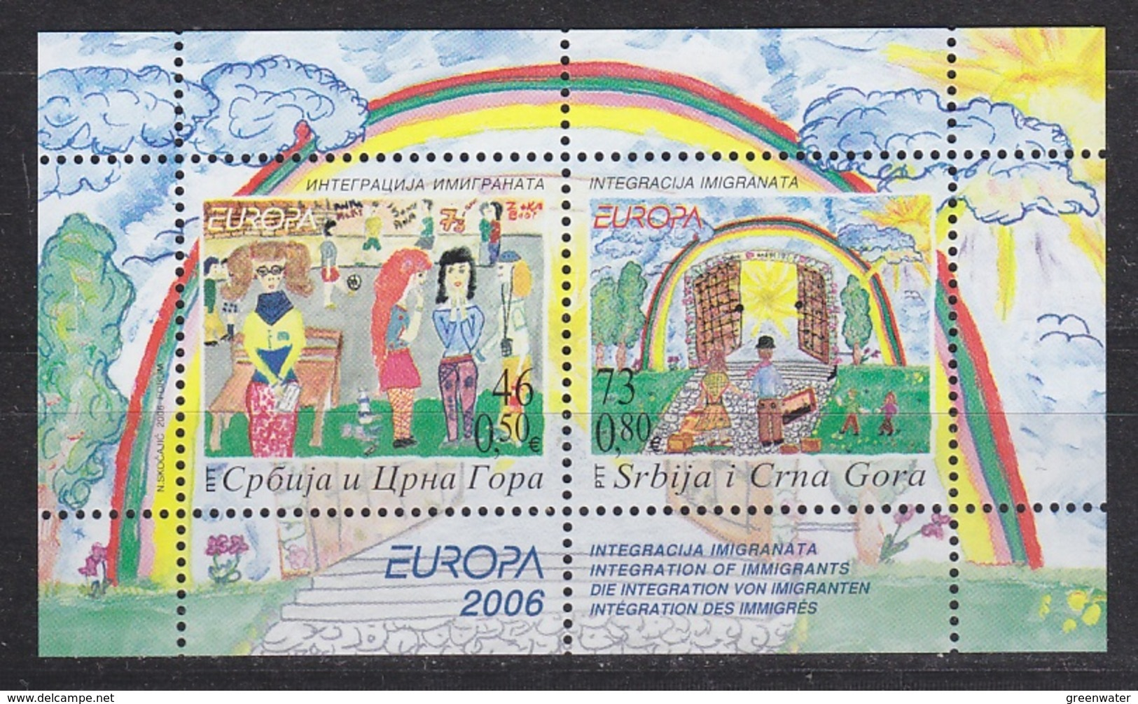 Europa Cept  2006 Serbia & Montenegro M/s ** Mnh (44355) - 2006