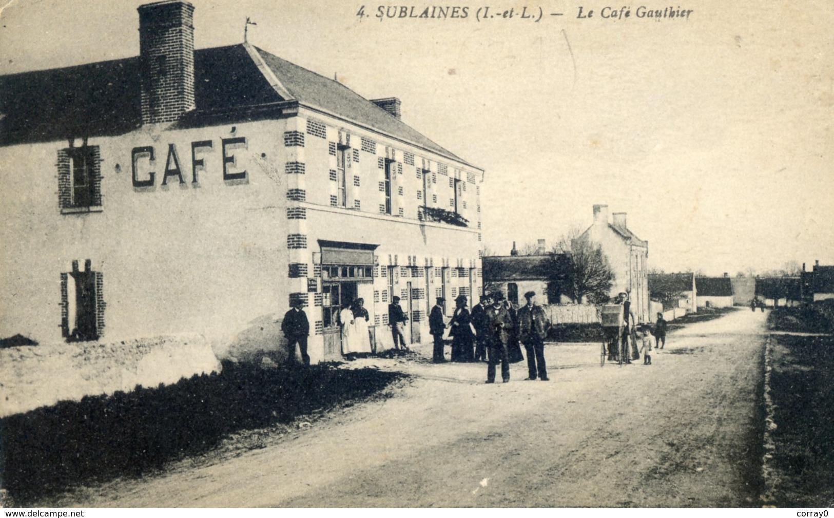 890.  SUBLAINES. Le Café Gauthier - Other Municipalities