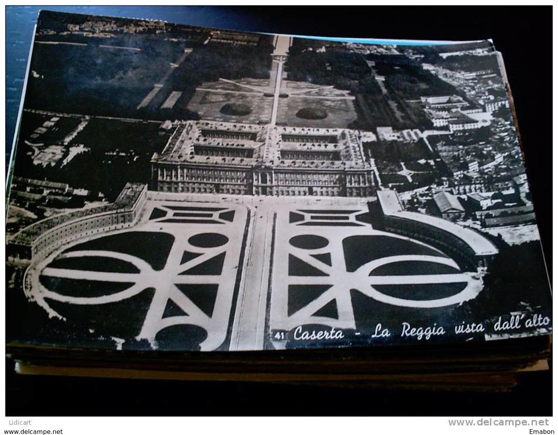 ITALY CAMPANIA - CASERTA  ( CASERTA ) LA REGGIA VISTA DALL' ALTO  VIAGGIATA 1952 - Caserta