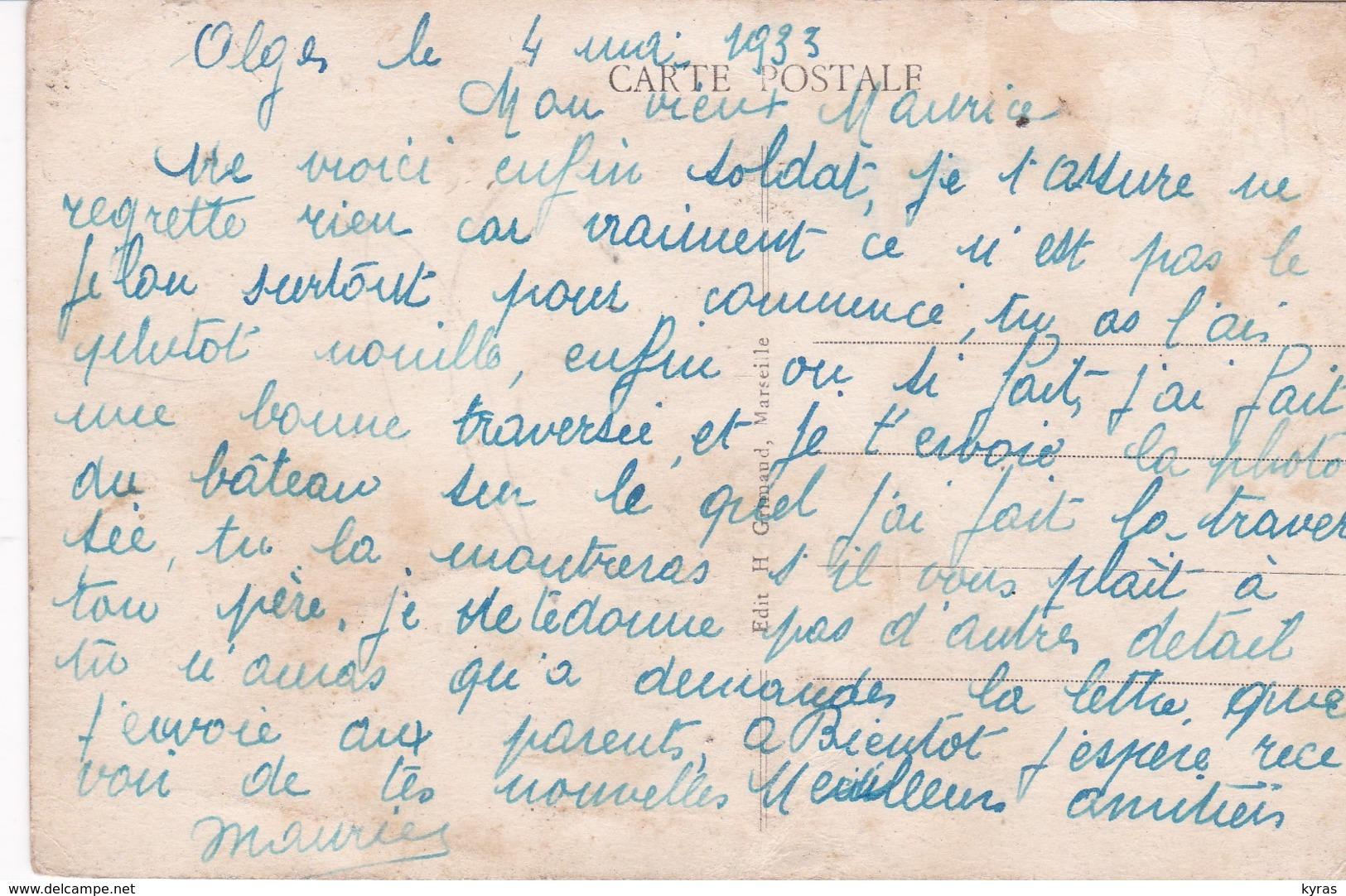 """Le Paquebot S/S  """" Gouverneur Général GUEYDON  """" De La Cie Gale Transatlantique Par Rosse Mer (Courrier D'Algérie ) - Paquebots"""
