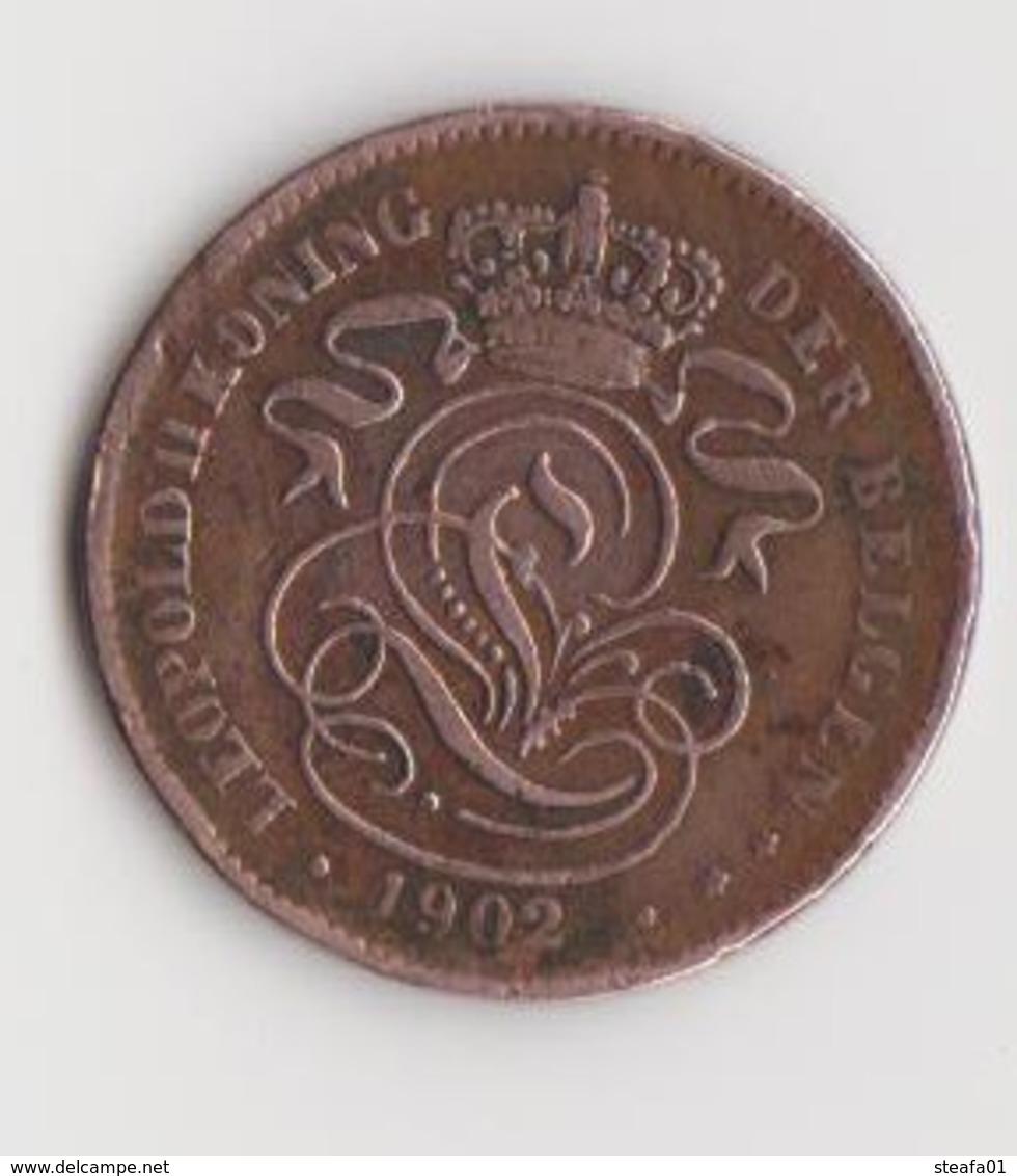 Leopold II, 2 Centimes, Nederlands, 1902 - 02. 2 Centimes