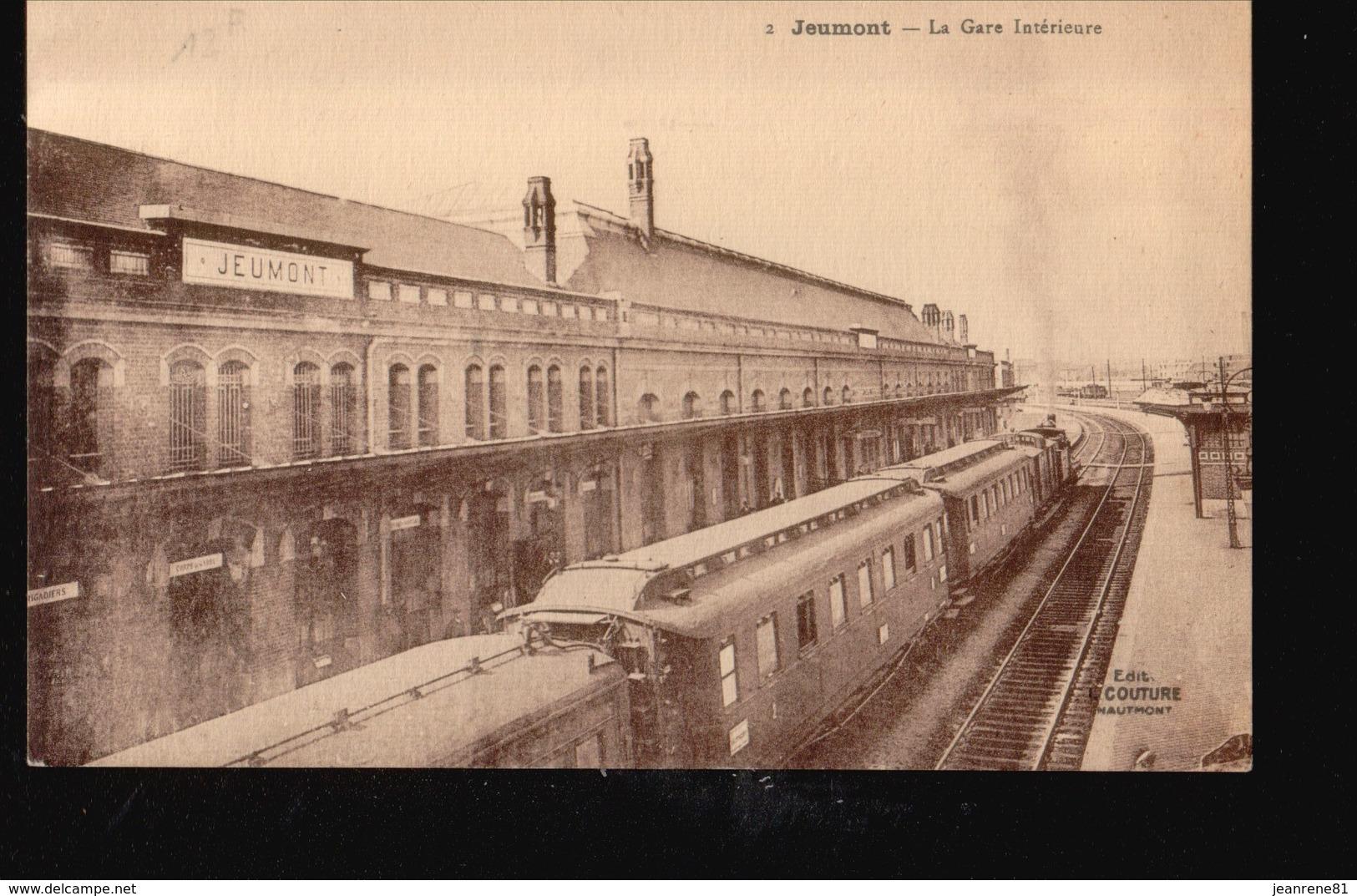 59/074..... JEUMONT...LA GARE INTERIEURE - Frankreich