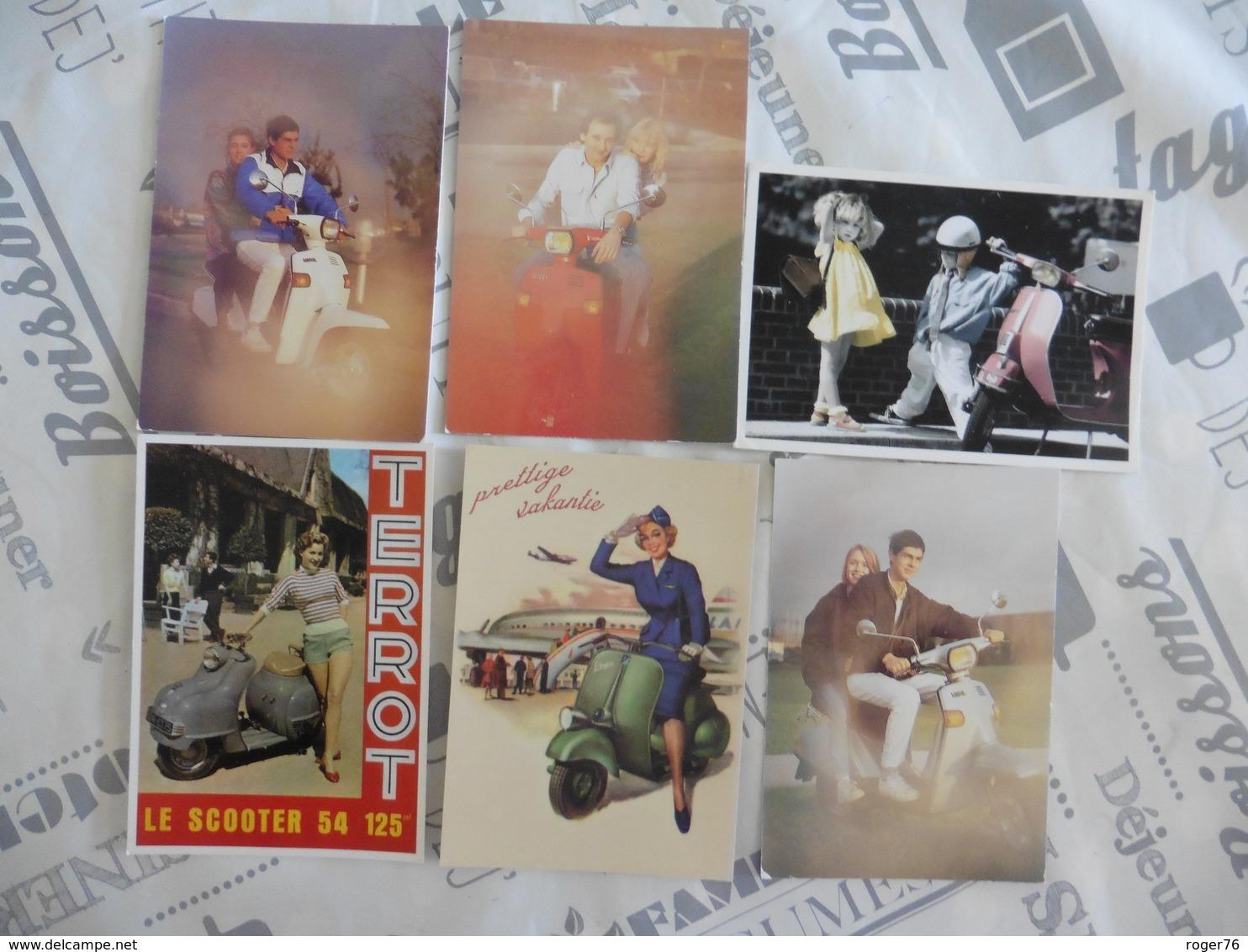 LOT  DE  6  CARTES  POSTALES   DE  SCOOTERS - 5 - 99 Cartes