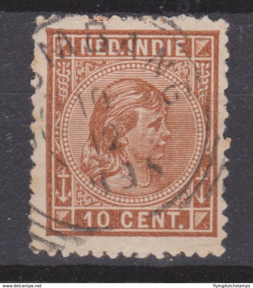Nederlands Indie 23 CANCEL PALEMBANG ; Koningin Queen Reine Reina Wilhelmina 1892 NETHERLANDS INDIES PER PIECE - Niederländisch-Indien