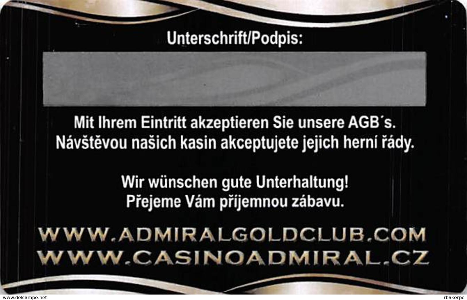 Casino Admiral Czech Republic - Slot Card   .....[FSC]..... - Casino Cards