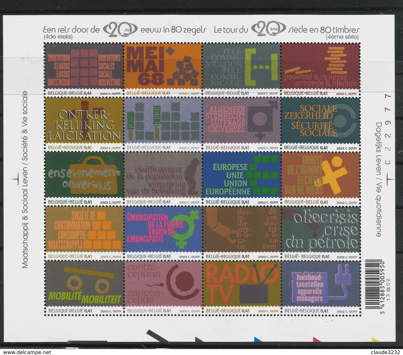 1.Belgique : Timbres Neufs** - Collections