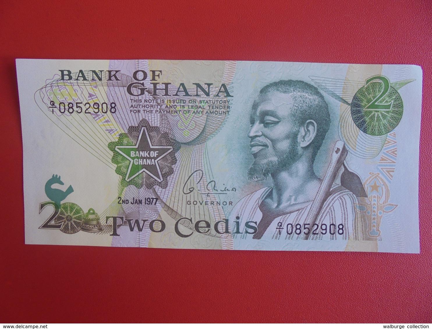 GHANA 2 CEDIS 1977 PEU CIRCULER (B.6) - Ghana