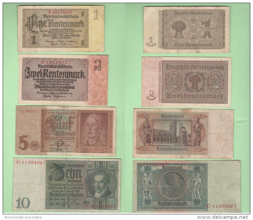 1 2 5 10 Reichsmarks War Currency Germania Deutschland - Unclassified