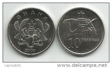 Ghana 10 Pesewas 2007. UNC - Ghana