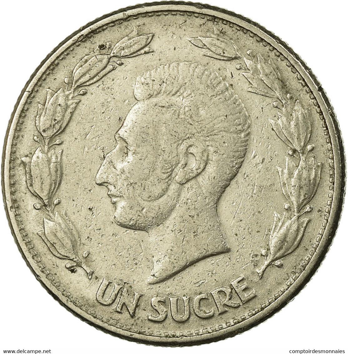 Monnaie, Équateur, Sucre, Un, 1946, TB+, Nickel, KM:78.2 - Equateur