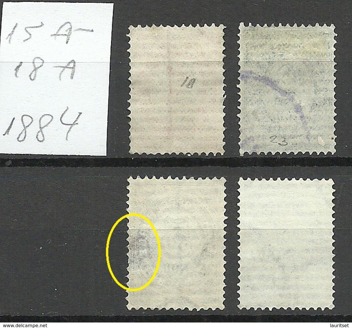 RUSSLAND RUSSIA 1884 Levant Levante Michel 15 - 18 A O NB! - Levant
