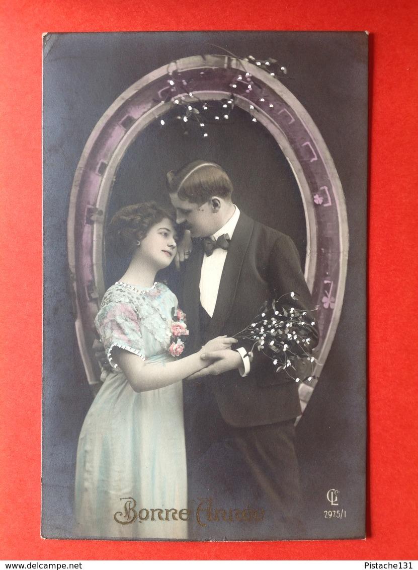 1912 - BONNE ANNEE - KOPPEL IN EEN HOEFIJZER - GELUKSBRENGER - FER DE CHEVAL - Nouvel An