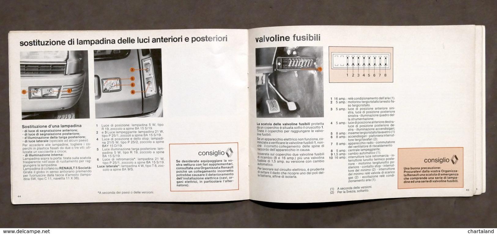 Automobilismo - Manuale Uso E Manutenzione Renault 5 - 1980 - Libros, Revistas, Cómics