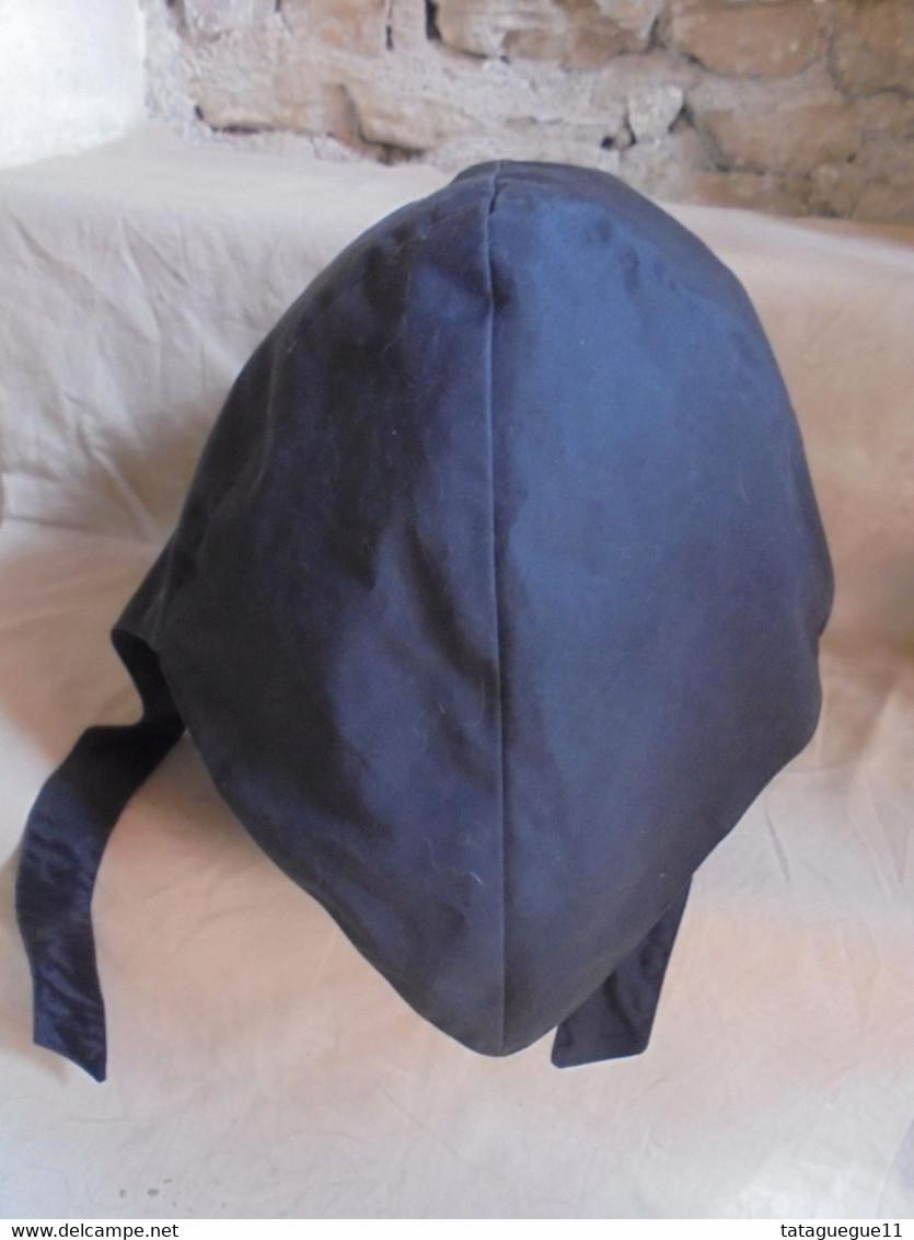 Ancien - Chapeau Noir Femme Fourrure Synthétique Années 60 - Headdresses, Hats, Caps