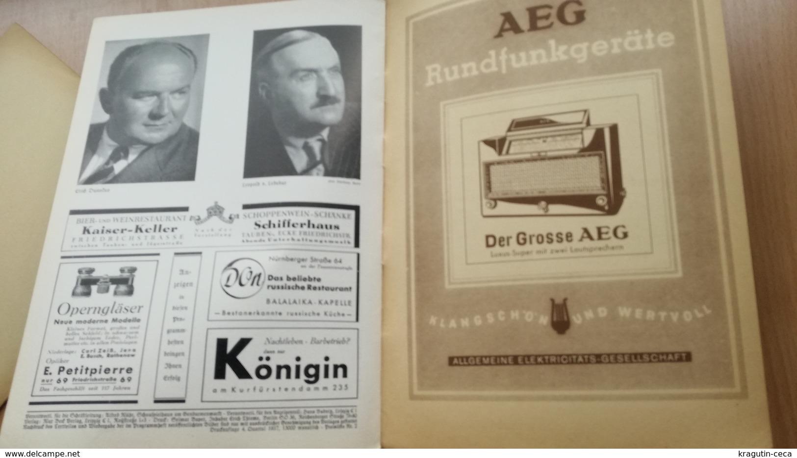 1937 1938 Volksbühne Berlin GERMANY GERMAN STAATS THEATER DEUTSCHLAND NAZI LOT MAGAZINE NEWS NEWSPAPER STATE THEATER - Theatre & Scripts