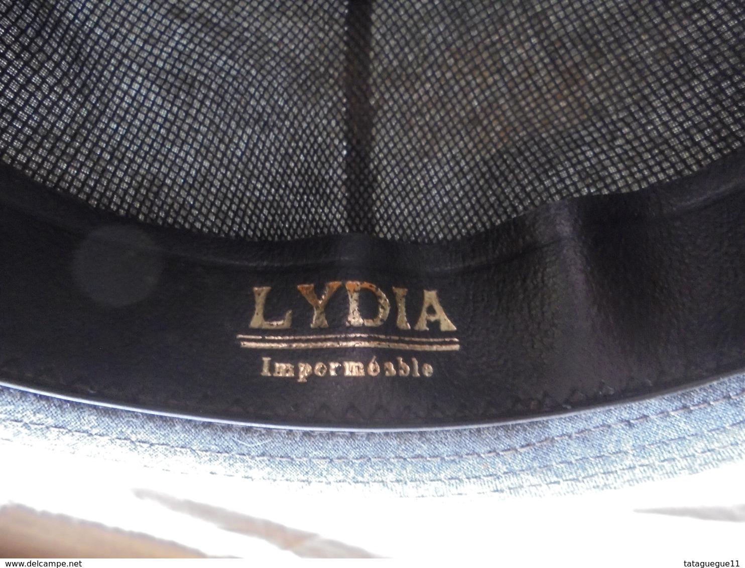 Ancien - Chapeau Femme Lydia Imperméable Gris Taille 56 - 4 1/2 Années 50 - Headdresses, Hats, Caps