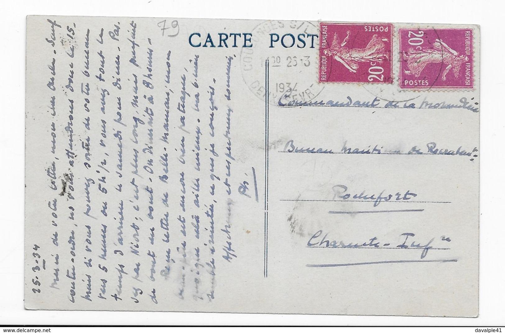 79   LA  ROUSSIERE  PAR COULONGES -sur - L'AUTIZE   BON ETAT    2 SCANS - Coulonges-sur-l'Autize