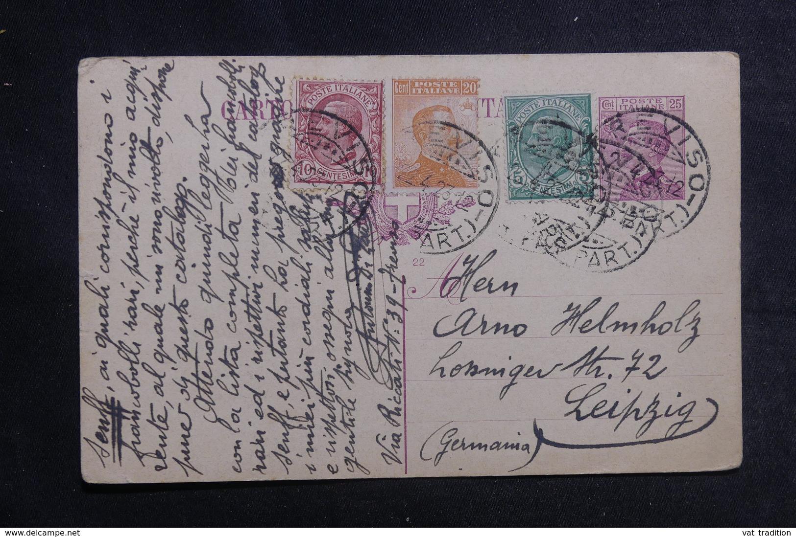 ITALIE - Entier Postal + Compléments De Treviso Pour L 'Allemagne En 1923 - A Voir - L 41153 - 1900-44 Vittorio Emanuele III