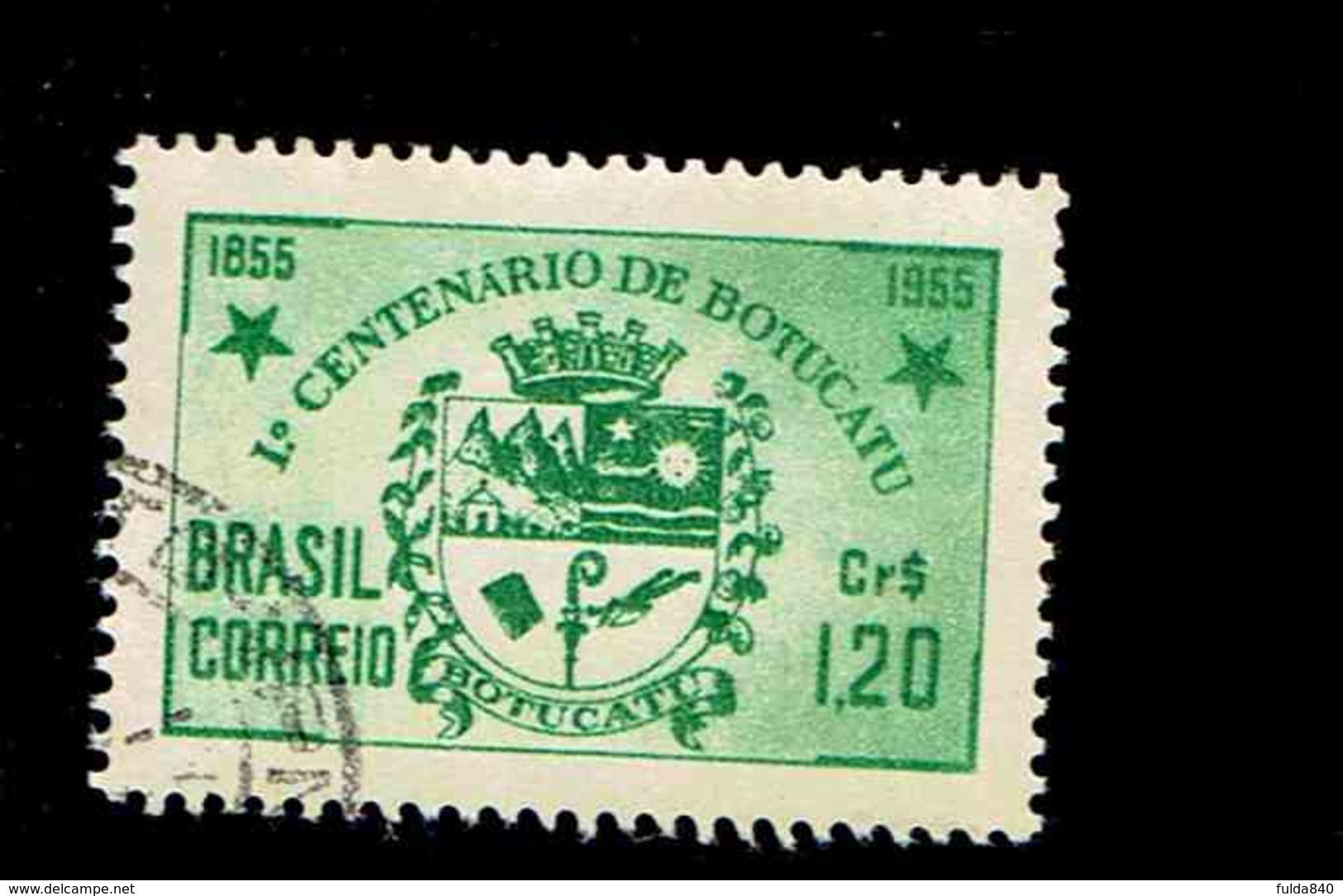 BRESIL.(Y&T) . 1955 - N°604   *Centenaire De La Ville De Botucatu*     1,20cr.    Obl. - Neufs