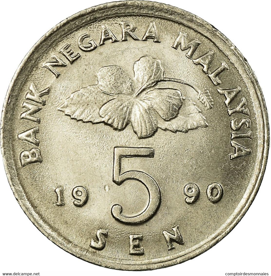 Monnaie, Malaysie, 5 Sen, 1990, TTB, Copper-nickel, KM:50 - Malaysie
