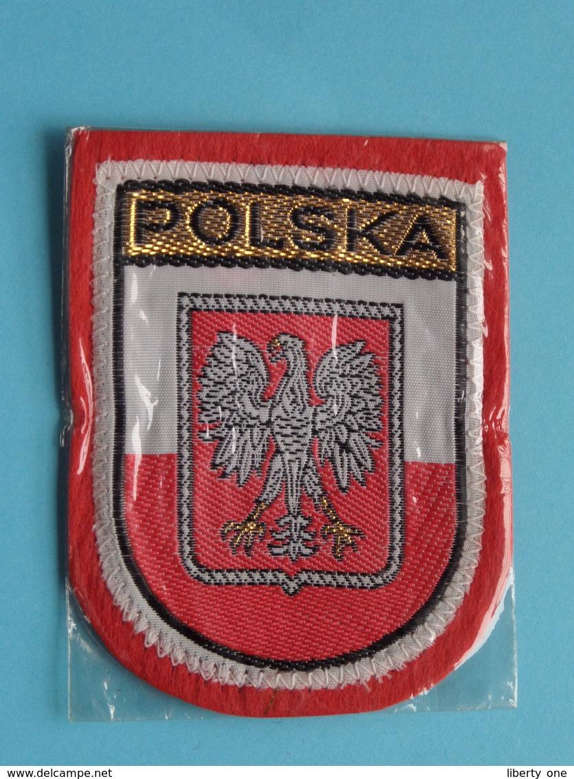 POLSKA : BADGE 7 X 5,5 Cm. () Zie / Voir / See Photo ! - Blazoenen (textiel)