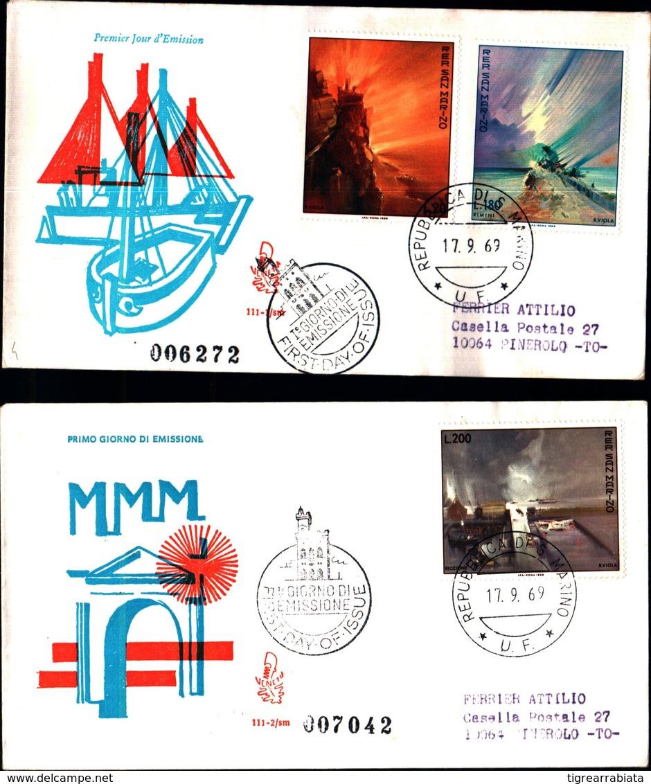 13228a)F.D.C.SAN Marino      Paesaggi - 17 Settembre 1969 - FDC