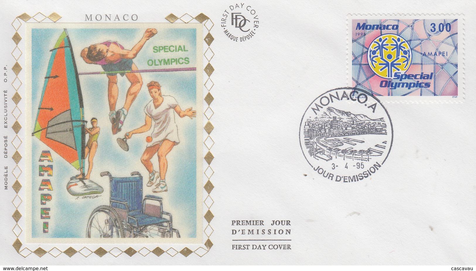 Enveloppe  FDC  1er  Jour  MONACO   SPECIAL  OLYMPICS    Jeux  Olympiques   Personnes  Handicapées - Olympic Games