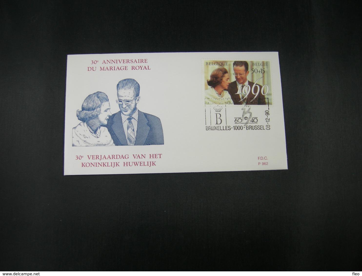 """BELG.1990 2396 FDC (Brux/Brus)  : """" Koninklijk Huwelijk (30) Mariage Royal """" - FDC"""