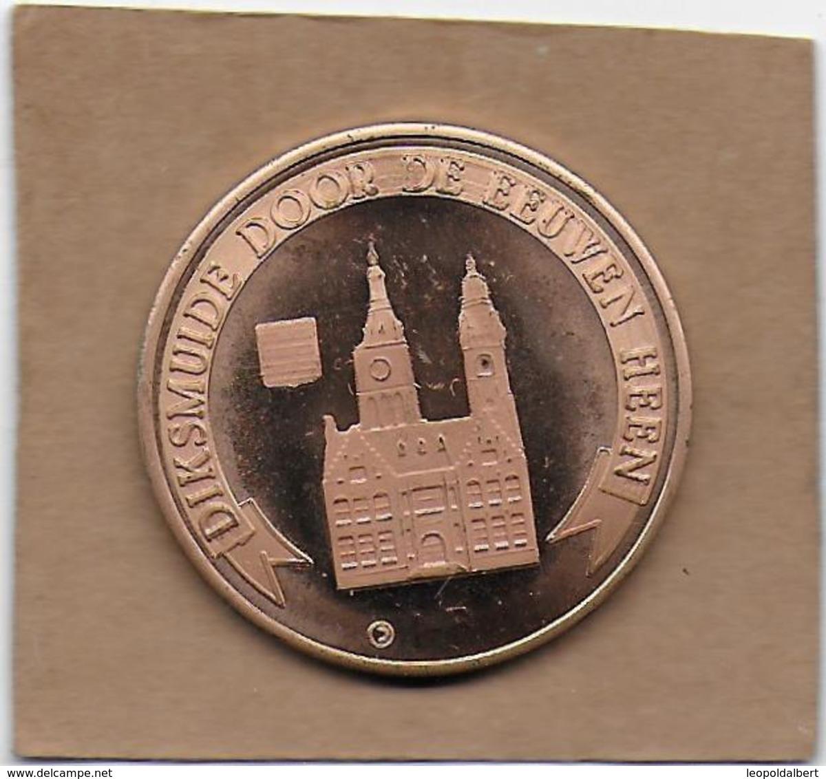 100 RELLEM  1982 DIKSMUIDE OUDEKAPELLE SINT-JAN DE DOPER - Gemeentepenningen