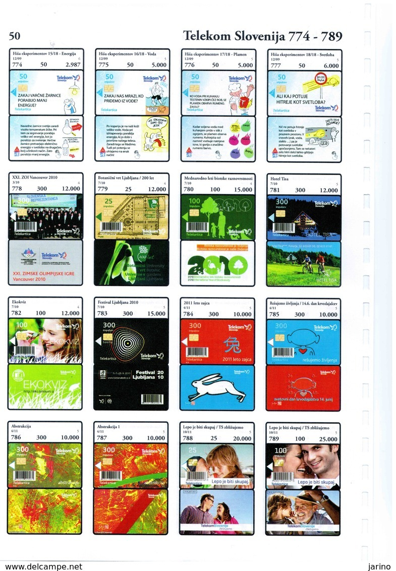 Slovenia Phonecards Catalogue 2014 On CD,798 Chip Cards Format PDF + Also JPG Format, Last+latest Color Catalog 94,7 MB - Telefonkarten