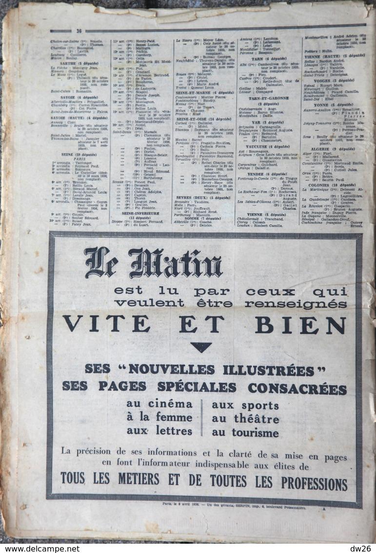 Le Journal Le Matin Présente Les élections 1936 - Comment Ils Ont Voté: Votes Des Députés Dans Scrutins 1932-36 - Journaux - Quotidiens