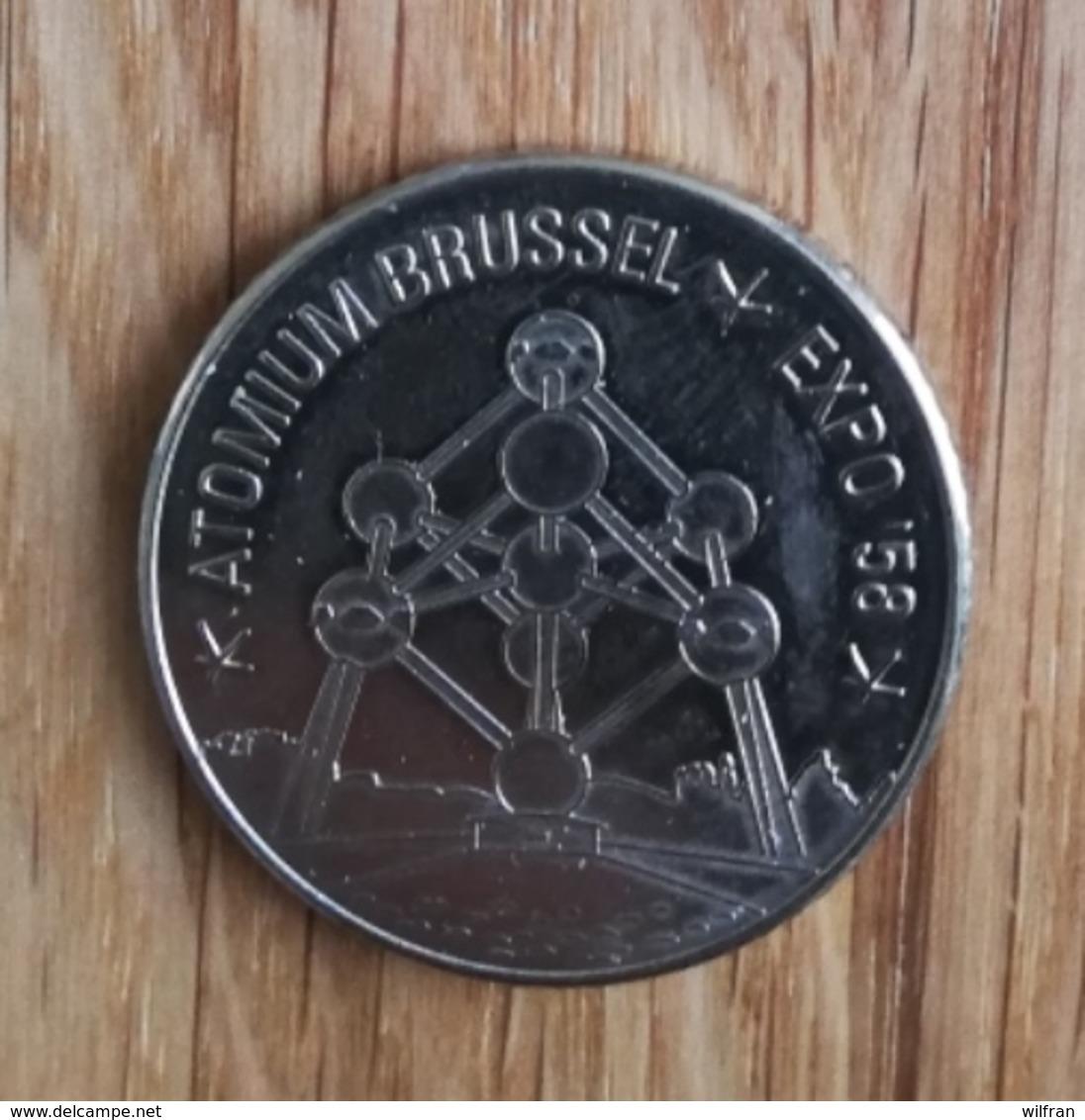 3286 Vz Atomium Brussel Expo '58 - Kz Belgian Heritage Collectors Coin - België