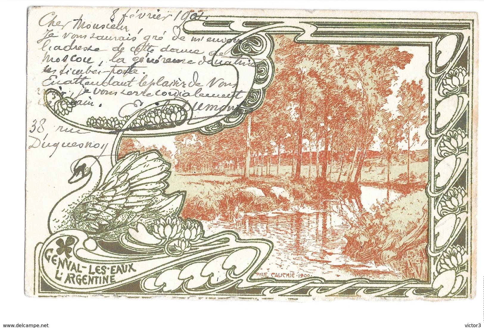CPA CAUCHIE GENVAL LES EAUX L'ARGENTINE ART NOUVEAU - Illustrateurs & Photographes