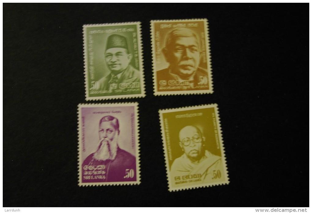 Sri Lanka Four Famous Men MNH 1980 A04s - Sri Lanka (Ceylon) (1948-...)