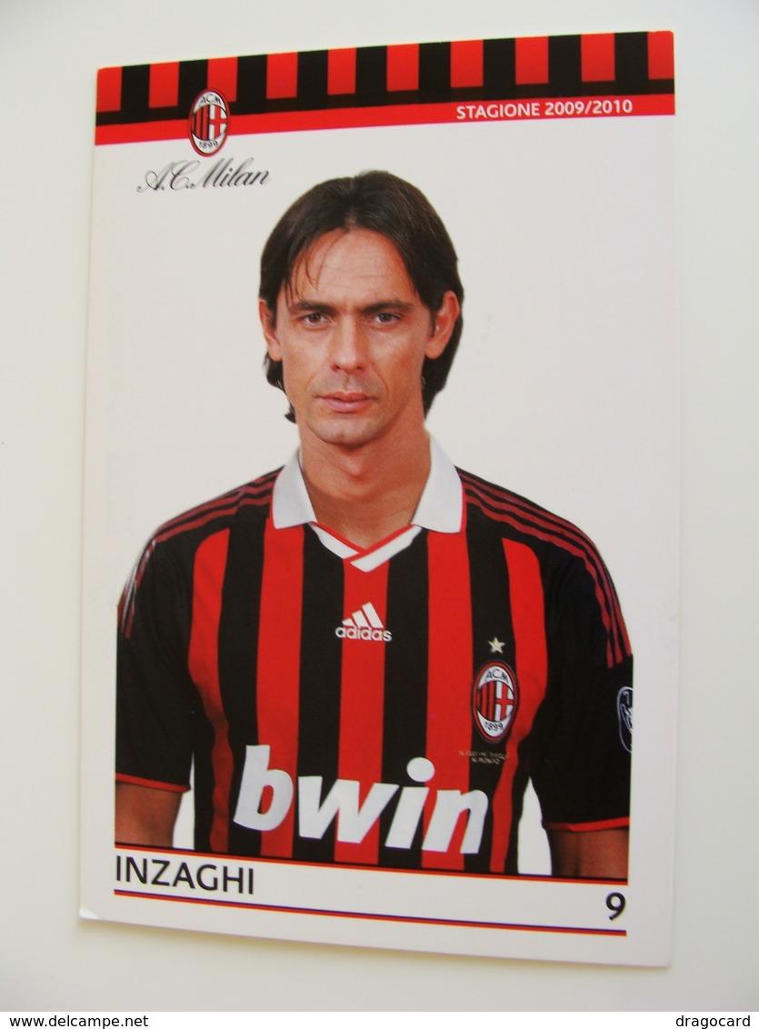 INZAGHI       A.C. MILAN 2009 / 2010   SPONSOR UFFICIALE BWIN ADIDAS SKY    CALCIO  FOOTBALL  SOCCER - Calcio