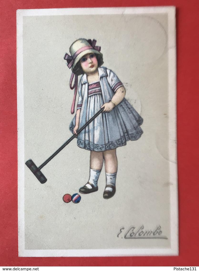 1920 - Illustrateur COLOMBO - MEISJE SPEELT CROQUET - FILLETE - JEU DE CROQUET - Colombo, E.