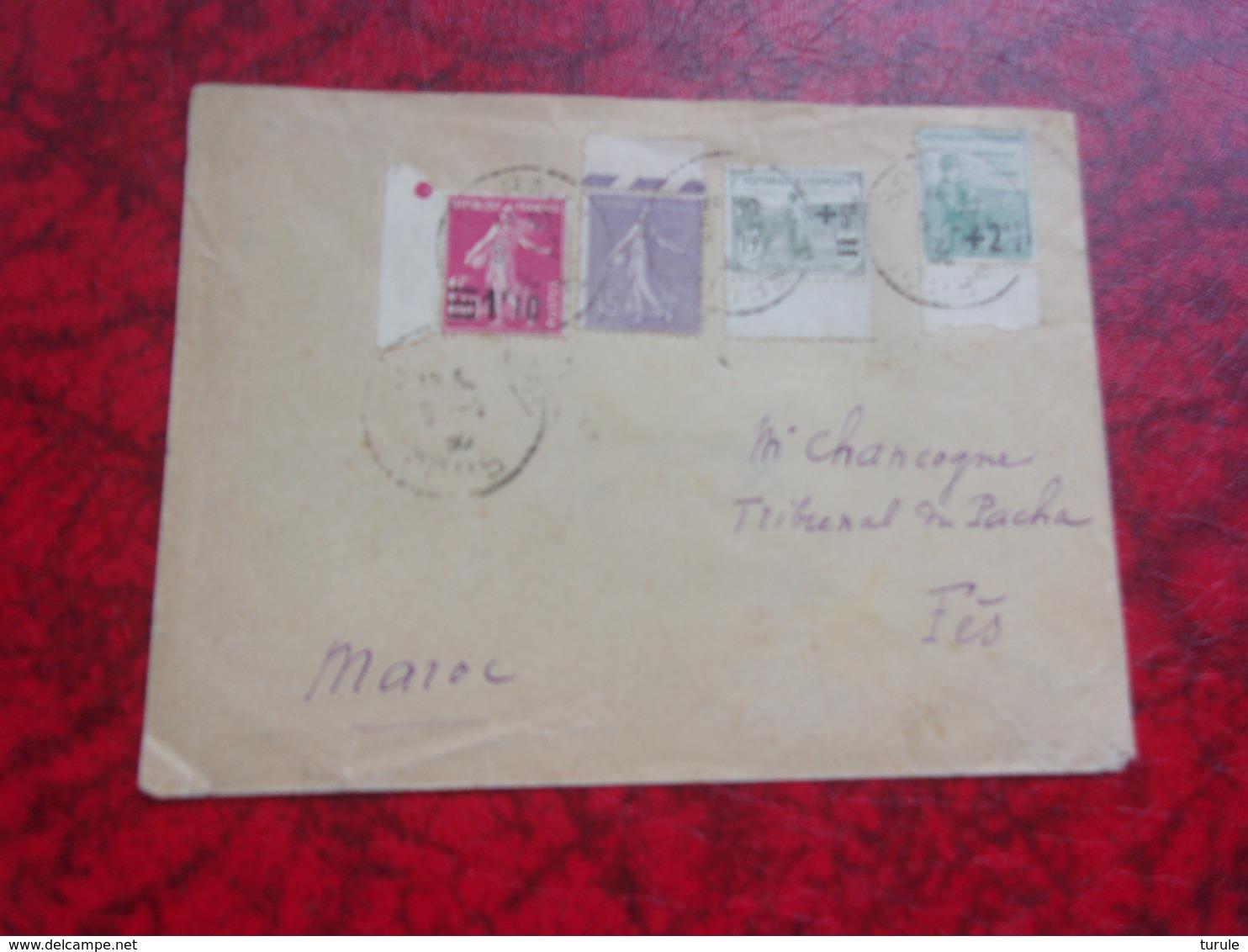 FRANCE (1930) Lettre Pour Fes MAROC - France