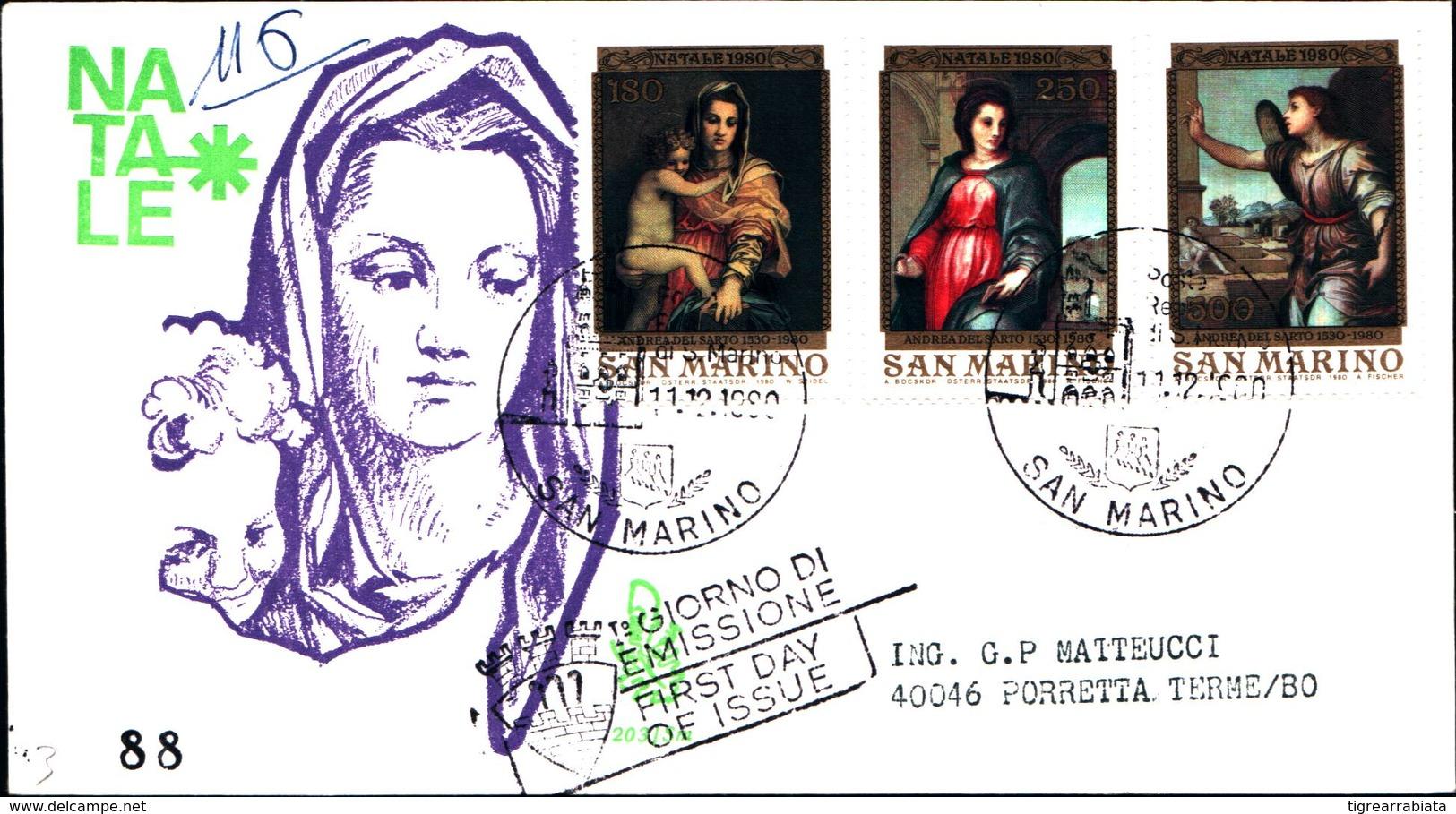13266a)F.D.C.SAN Marino    Natale - 11 Dicembre 1980 - FDC