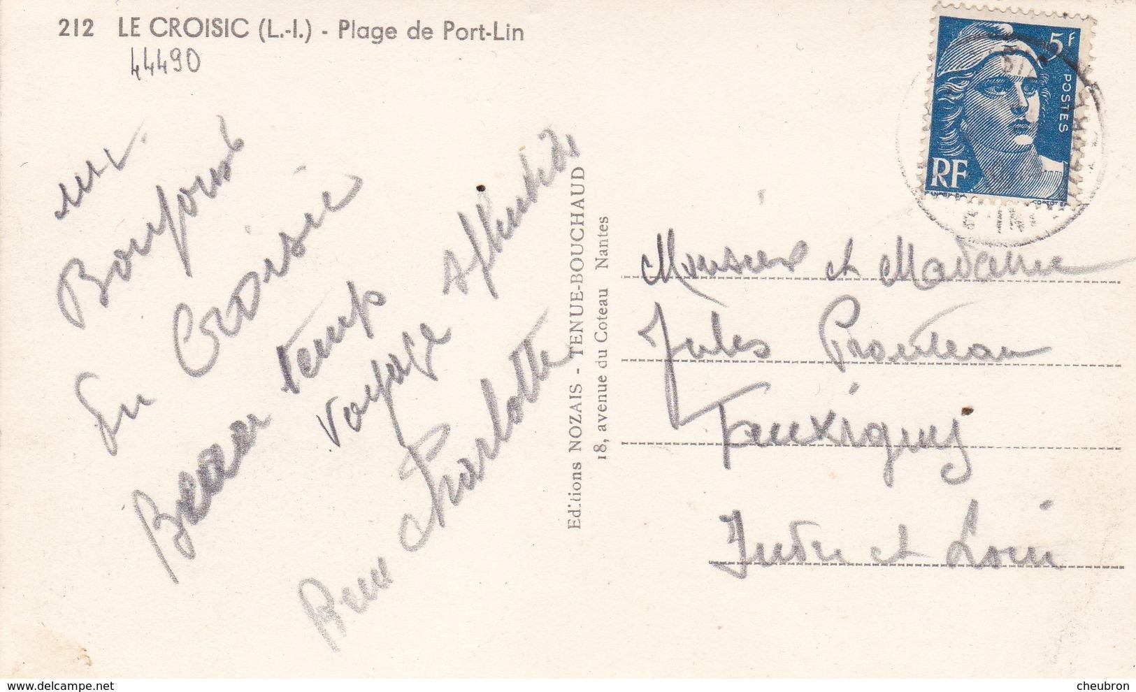 44. LE CROISIC.  CPA. ANIMATION SUR LA PLAGE DE PORT LIN . ANNÉE 1951 + TEXTE - Le Croisic