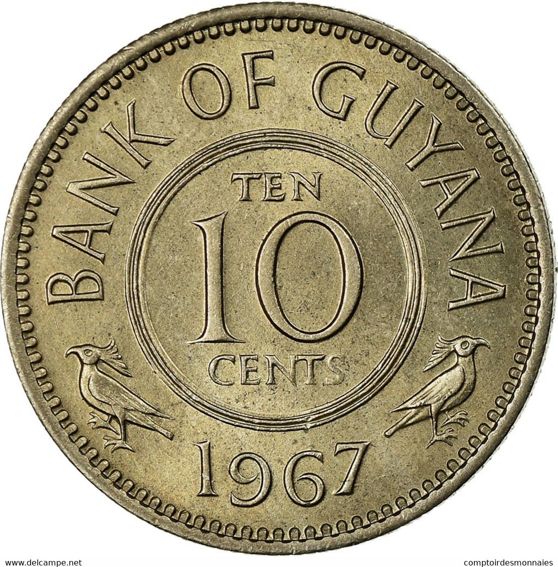 Monnaie, Guyana, 10 Cents, 1967, TTB, Copper-nickel, KM:33 - Guyana