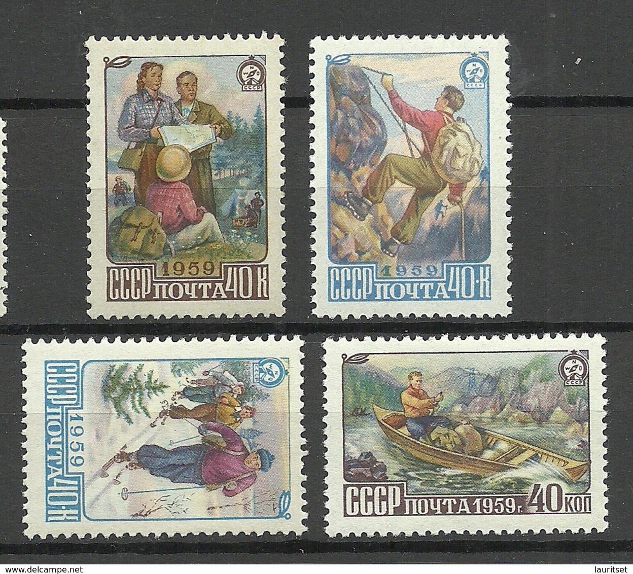 RUSSIA Russland 1959 Michel 2226 - 2229 MNH/MH Tourismus Tourism - 1923-1991 USSR