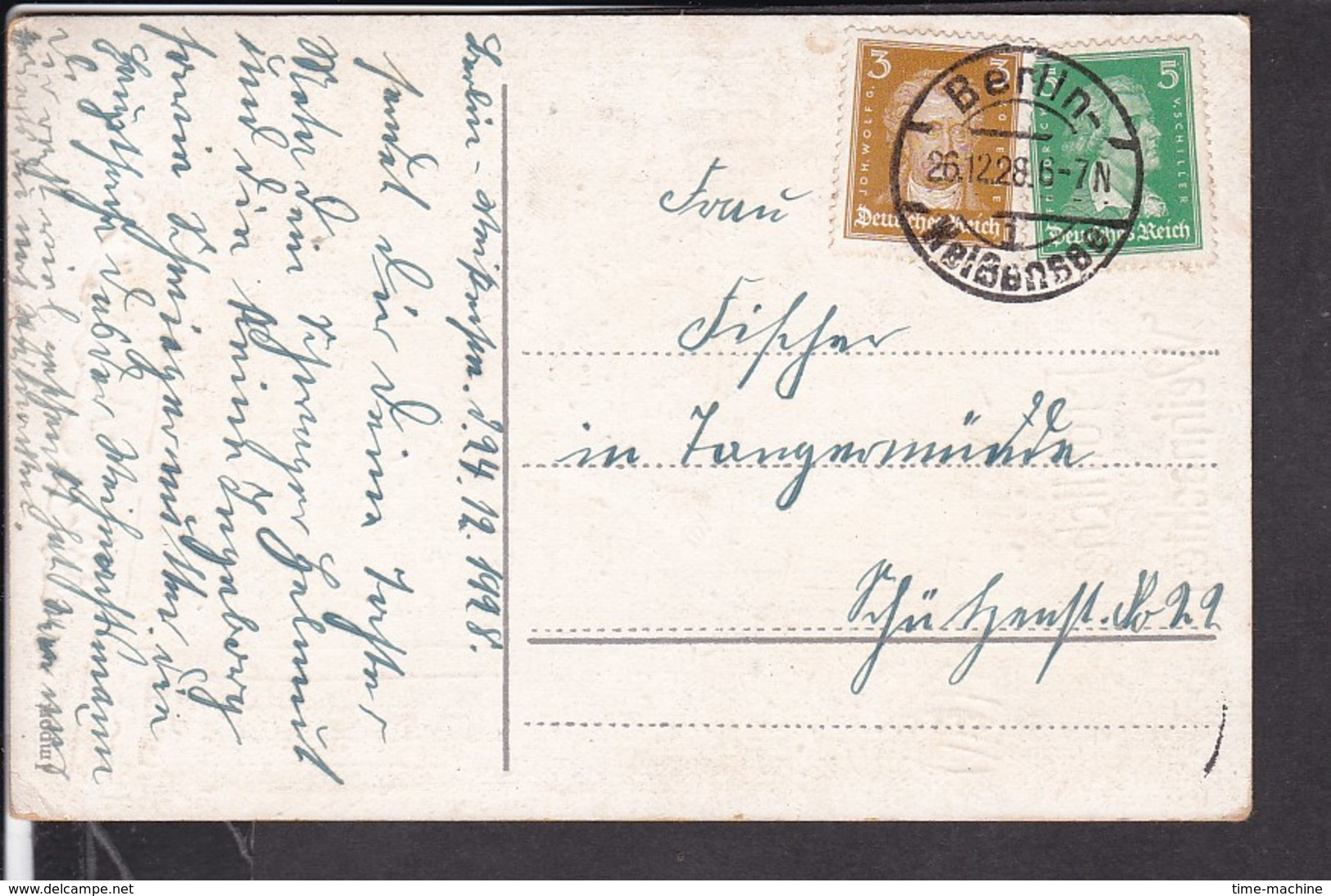 Weihnachten Stempel  Berlin - Weißensee  1928 - Weihnachten